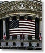 New York - Wall Street Panoramic Metal Print