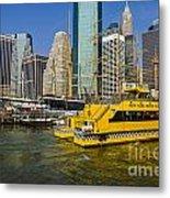 New York Water Taxi Metal Print