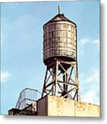 New York Water Tower 1 - New York Scenes  Metal Print