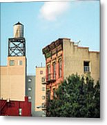 New York Water Tower 3 Metal Print