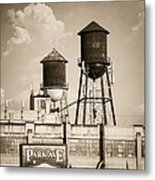 New York Water Tower 8 - Williamsburg Brooklyn Metal Print