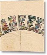 New York Yankees Poster Art Metal Print