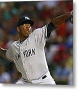 New York Yankees V Texas Rangers Metal Print