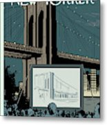 New Yorker August 24th, 2009 Metal Print