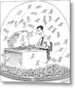 New Yorker December 6th, 1999 Metal Print
