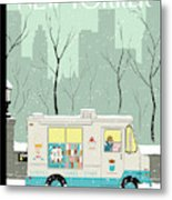 New Yorker February 2nd, 2009 Metal Print
