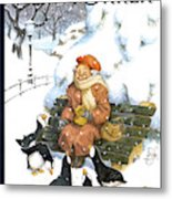 New Yorker January 29th, 2001 Metal Print by Peter de Seve