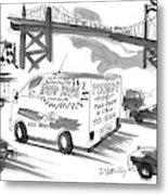 New Yorker September 27th, 1999 Metal Print