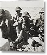 New Zealanders In Libya Eat Lunch Metal Print