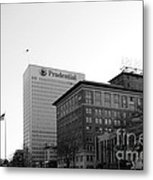 Newark  New Jersey In Black And White Metal Print