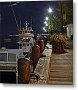 Newburyport Docks Full Moon Metal Print