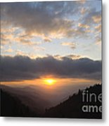 Newfound Gap Sunrise - D008233 Metal Print