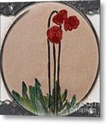 Newfoundland Pitcher Plant - Porthole Vignette Metal Print