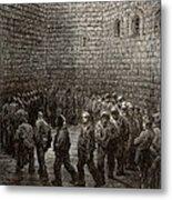 Newgate Prison Exercise Yard Metal Print