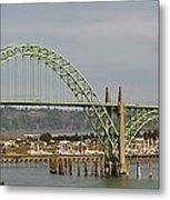 Newport Bay Bridge Metal Print