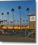Newport Beach At Dusk Metal Print by Kelley King