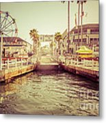 Newport Beach Balboa Island Ferry Dock Photo Metal Print by Paul Velgos