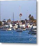 Newport Beach Harbor Metal Print