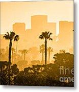 Newport Beach Skyline Morning Sunrise Picture Metal Print by Paul Velgos