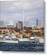 Newport Beach Skyline  Metal Print by Paul Velgos