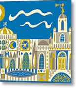 Newport Beach Temple Metal Print