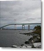 Newport Bridge  -  Rhode Island Metal Print