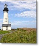 Newport Oregon Yaquina Lighthouse Metal Print