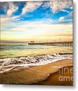 Newport Pier Photo In Newport Beach California Metal Print by Paul Velgos