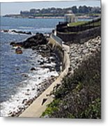 Newport's Cliff Walk View Metal Print