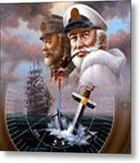 Imperishable Two Map Captain 4  Metal Print