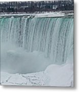 Niagara Falls Canada In Winter Metal Print