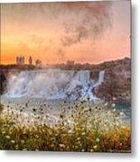 Niagara Falls Canada Sunrise Metal Print
