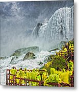American Falls Niagara Cave Of The Winds Metal Print