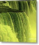 Niagara Falls Closeup Hot Wax Effect Metal Print