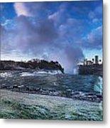 Niagara Falls Dramatic Panoramic Scenery Metal Print