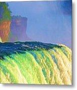 Niagara Falls In Abstract Metal Print