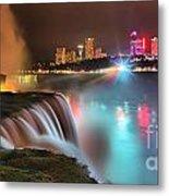 Niagara Starbust Skyline Panorama Metal Print