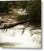 Niagra River Just Before The Falls Metal Print