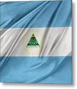 Nicaraguan Flag Metal Print by Les Cunliffe