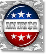 Nice America Shield 2 Metal Print