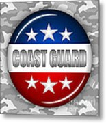 Nice Coast Guard Shield 2 Metal Print