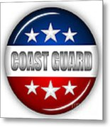 Nice Coast Guard Shield Metal Print