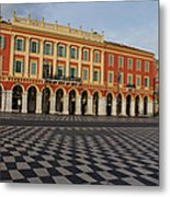Nice France - The Cheerful Colors Of Place Massena Metal Print