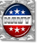 Nice Navy Shield 2 Metal Print