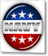 Nice Navy Shield Metal Print