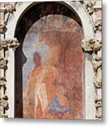 Niche Fresco In Real Alcazar Of Seville Metal Print
