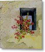 Niche With Flowers Metal Print