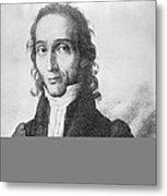 Nicholo Paganini, Italian Violinist Metal Print