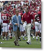 Nick Saban And The Tide Metal Print by Mountain Dreams