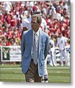 Nick Saban Head Football Coach Of Alabama Metal Print by Mountain Dreams